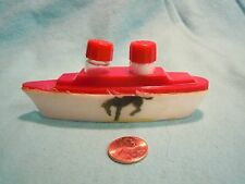 Vintage Red White Cruise Yacht Ship Salt and Pepper Shakers Celluloid         55