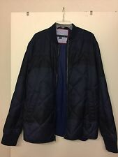 New Men's Tommy Hilfiger Wool Blend 85 Appliqué Quilted Zip Front Jacket Six XXL