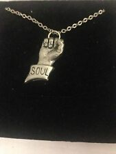 Soul Fist PP-C English Pewter on a Silver Platinum Plated Necklace 18""