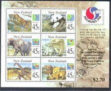 New Zealand-Wild Animals min sheet Philakorea-1831 mnh