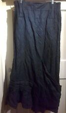 HEBBEDING BLACK WINTER  LONG CRINCLE SKIRT  SIZE 2/UK -14/18