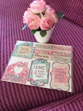 Set Of Ten Shabby Chic Style Floral Home Fridge Memo Board Magnets