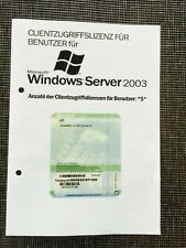 10x Windows 2003 server 5er client licenza complementare, user, OEM con IVA FATTURA