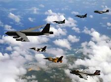 MILITARY AIR PLANE B-52 STRATOFORTRESS JAPAN F-2 FIGHTER JET POSTER PRINT BB937A