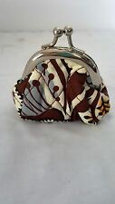 Vera Bradley Double Kiss Kisslock Coin Purse Retired State Blooms 3 x 3 x 2.5 in