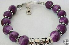 Beautiful handmade the Tibet silver purple jade bracelet 7.5 ~ 8 inches