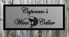 "Custom Wine Cellar Vinyl Wall Quote Sticker Decal 18.5""h x 36""w"