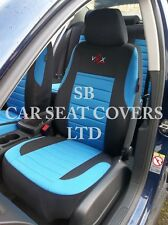 TO FIT A PEUGEOT 206 CAR, SEAT COVERS, VRX SPORT BLUE FULL SET