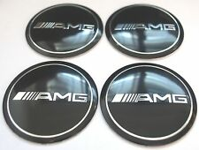 MERCEDES AMG Wheel Hub Cap Badge Emblem Stickers METAL 56.5mm Set 4 HIGH QUALITY