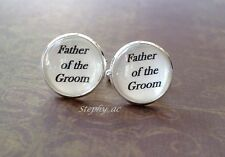16mm Father of the Groom Cufflinks, Gifts for Dad, Wedding Cufflinks