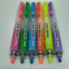 Pentel Handy-line S Retractable Refillable Highlighter 6 Colors, Choose anything