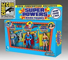 SDCC 2016 Gentle Giant Super Powers Micro Figure 3 Pack Superman Batman Wonder !