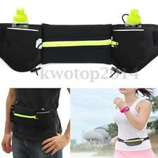 Sport Runner Waist Bum Running Bag Jogging Belt With Phone Pack&Water Bottle Bag