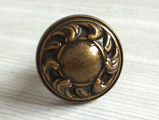 Tiny Small Vintage Look Dresser Drawer Knobs Cabinet Knob Antique Gold Brass