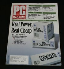 PC Magazine December 26 1989 Vol 8 #22 Real Power Real Cheap 12 386-20 PC's