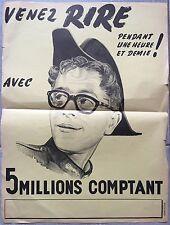 Affiche CINQ MILLIONS COMPTANT Berthomieu JANE SOURZA Ded Rysel 30x40cm *