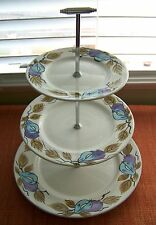 Mid century Modern Alfred Clough Ltd. England Mayfair 3 Tier Cake Plate Stand