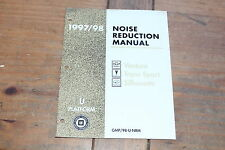 1997 1998 Noise Reduction Manual Venture Trans Port Silhoutte GM Shop Manual