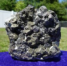 GALENA Pyrite Sphalerite with Huaron Quartz Crystal Points Self Standing Display