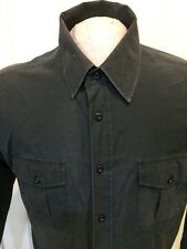 Men's Shirt Black By Beverly Hills Polo Club Size Large