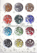 (1440)pcs Nail Art Rhinestones Diamonds 12 colors Glass Material easy to use!