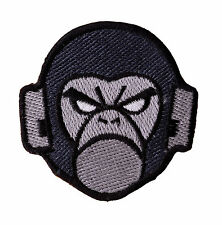 ANNOYED APE FACE  Embroidered Iron On Motorcycle Biker Vest Patch P62