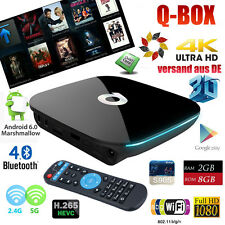 2GB/8GB Q-BOX Smart TV BOX 4K*2K Android 6.0 QuadCore 2*WIFI H.265 Media Player