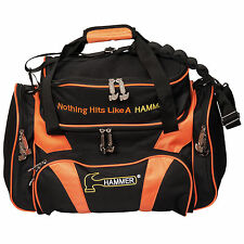 Hammer Premium Deluxe Double Tote 2 Ball Bowling Bag Black/Orange
