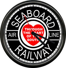 Seaboard Railway Air Line Southern  Railroad Train Conductor Sign Wall Clock