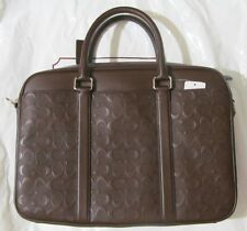 COACH F72230 MAHOGANY SLIM BRIEFCASE Bag