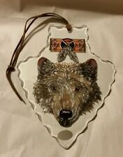 """Coyote Glass Arrowhead """"AMIA""""Hand Painted Stained Glass, Decorative COLLECTABLES"""
