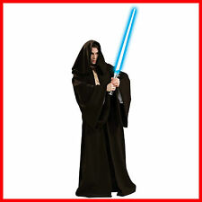 Adult Star Wars Jedi Master Costume Hooded Robe Cape Fancy Dress Party