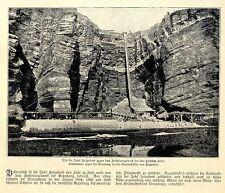 Schutzmauer an der Nordwestküste von Helgoland Historische Aufnahme von 1904