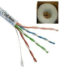CAT5E 1000FT CABLE UTP WIRE SOLID NET ETH WHITE BULK RJ45 Lan HIGH QAULITY N/Raw