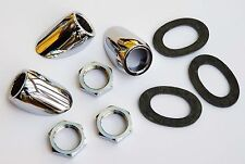 Chrome Wiper Bezel Kit set of 3, for Drop Head Jaguar E-Type, GAC1021