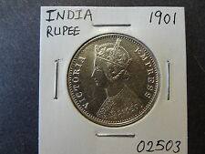 INDIA 1901 SILVER RUPEE, CRISP CHOICE UNC ++ !