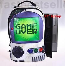 """18""""  Game Over Computer Rucksack Kids Boys  Large Backpack Travel School Bag"""
