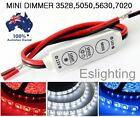 12V MINI LED STRIP LIGHT DIMMER CONTROLLER ON OFF SWITCH FOR 3528 5050 5630