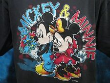 vintage 80s MICKEY & MINNIE MOUSE WALT DISNEY T-Shirt LARGE love world soft thin