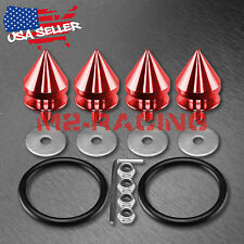 Red Spike Quick Release Fasteners For Car Bumpers Trunk Fender Hatch Lids Kit