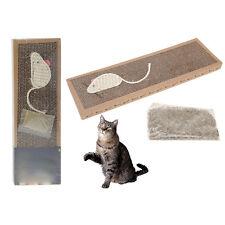 Katzen Kratzbrett Kratzmatte Katze Kratz Karton mit Katzenminze und Sisal Maus #