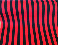 5 metres Black & Red Candy Cane/Stripe Polycotton Fabric