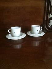 Alessi espresso coffee cups and saucers x 2