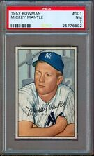 1952 BOWMAN #101 MICKEY MANTLE YANKEES PSA 7++ NICE!