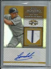 Jesus Montero 2012 Topps Triple Threads Autograph Game Used Jersey #37/75