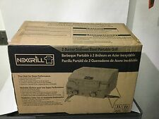 New Nexgrill 2-Burner Portable Tabletop Stainless Steel Outdoor Gas Grill Bbq