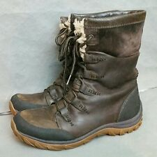 PATAGONIA Womens Boots Sz 9.5 Winter Weather Waterproof Brown Leather Fur Lined