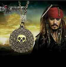 HOT SELL Pirates of the Caribbean Aztec Gold Coin Medallion Pendant Necklace