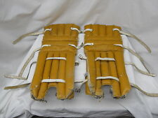 "WOW VERY RARE VINTAGE COOPER KID'S HOCKEY GOALER GP PADS AVG 22"" X9"" GOALIE GEAR"