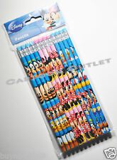 12 pc MICKEY MOUSE PENCILS w/erasers FOR PARTY CANDY BAGS GIFTS FAVORS GOOFY